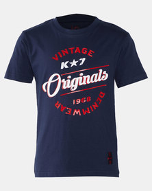 K-Star 7 Crow Boys Fashion Tee Navy