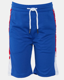 K-Star 7 Mbappe Boys Fashion Shorts Royal Blue