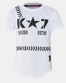 K-Star 7 Exit Boys Fashion Tee White