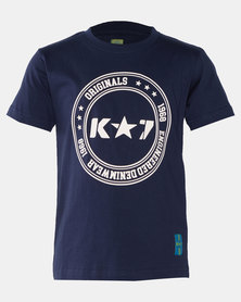 K-Star 7 Key Boys Fashion Tee Navy