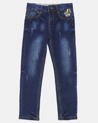 K-Star 7 Texton Boys Jeans Dark Indigo