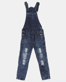K-Star 7 Jump Boys Dungaree Indigo
