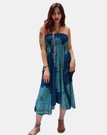 SKA 2 in 1 Smock Dress & Skirt Turquoise