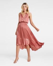 Lola Smock Dress Musk Rose