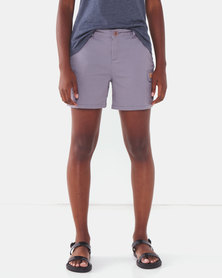 Jeep Stretch Twill Chino Shorts Grey
