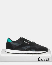Reebok Classic Nylon Sneakers Emerald/Black