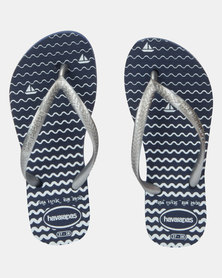 Havaianas  Kids Slim Oceano Flip Flops Navy Blue