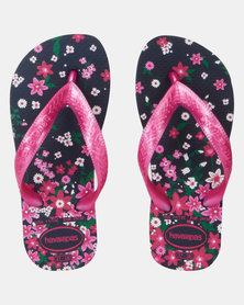 Havaianas Kids Flores Sandals Navy/Pink
