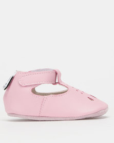 Shooshoos Baby Atlantis Soft Sole Mary-Janes Pink