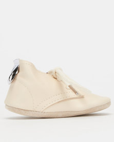 Shooshoos Baby Bumble Bee Soft Sole Mary Oxfords Nude