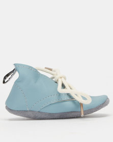Shooshoos Baby Duke Of Oxfords Soft Sole Blue