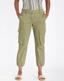 Contempo Utility Trousers Khaki
