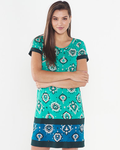 Maya Prass Peace Valley Shift Dress Jade