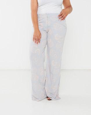 Maya Prass Amira Wide-Leg Trousers Silver Blush