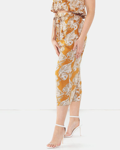 Legit Pleat Belt Floral Culotte Multi