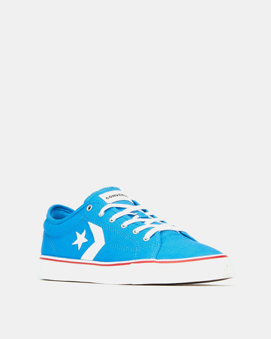 Converse Star Replay Locals Only Totally Blue/White/Enamel Red