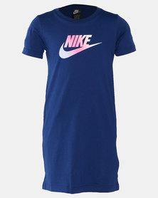 Nike Girls Futura T-shirt Dress Navy