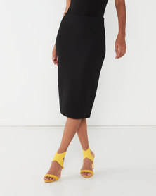 Queenspark Two Pack Knit & Punch-Out Pencil Skirt Multi