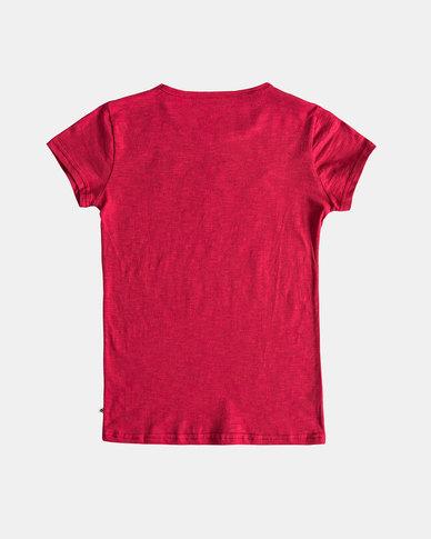 Roxy Girls Sea and Love T-Shirt Deep Claret