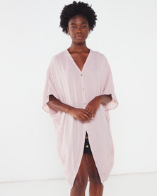 Utopia Georgette Oversized Top Dusty Pink