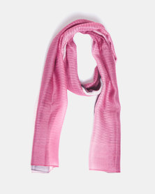 Queenspark Printed Poly Scarf Pink Ombre