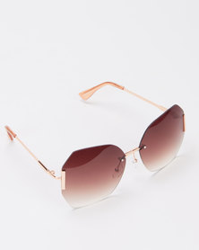 Queenspark Frameless Sunglasses Brown