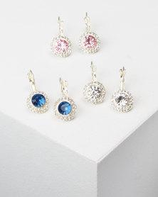 Queenspark 3PK Drop Earrings Multi