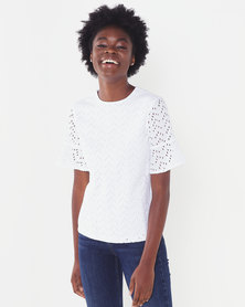 Polo Lds Molly Ms Anglaise Blouse White
