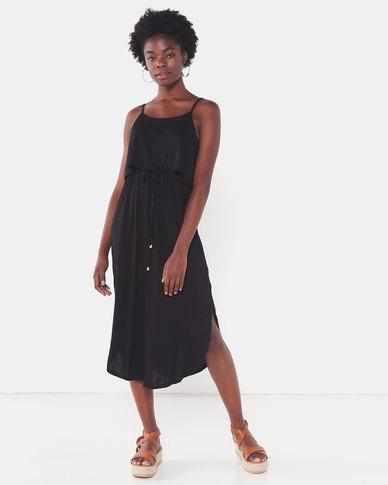 Utopia Strappy Knit Dress Black