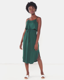 Utopia Strappy Knit Dress Teal