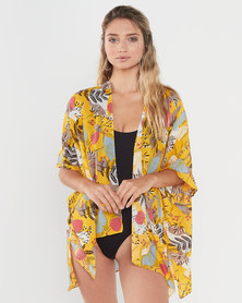Joy Collectables Short Jacket Kaftan Yellow