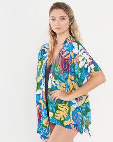 Joy Collectables Tropical Short Jacket Kaftan Green
