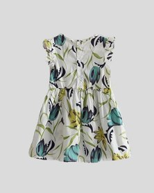 Oikie Toikie Floral Print Summer Dress Green