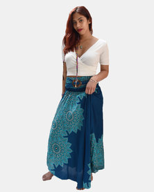 SKA Coconut Belt Skirt Turquoise