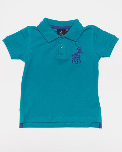 Polo Boys Austin Short Sleeve Golfer Teal