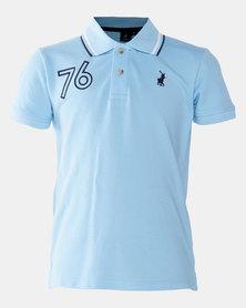 Polo Boys Warren Numerical Golfer Blue