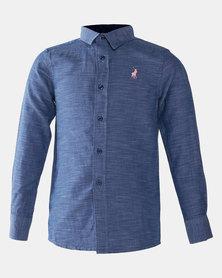 Polo Boys Cooper Long Sleeve Shirt Navy