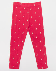 Polo Girls Sadie Printed Leggings Watermelon