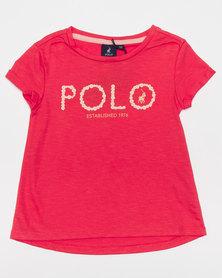 Polo Girls Jada Printed Tee Coral