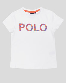 Polo Girls Jessica Printed Tee White