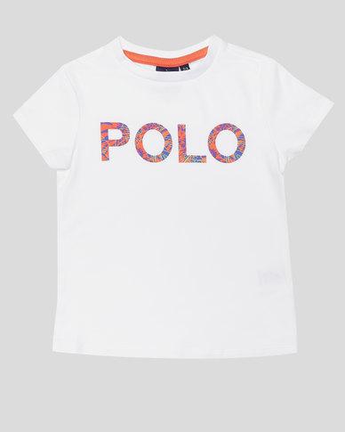Polo Girls Jessica Printed Tee White