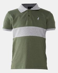 Polo Boys Robert Cut & Sew Golfer Olive