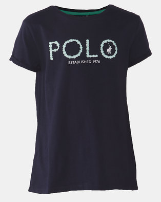 Polo Girls Jada Printed Tee Navy