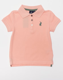 Polo Girls Nina SS Golfer Peach