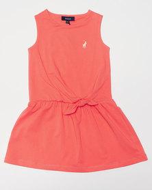 Polo Girls Pam SL Dress Coral