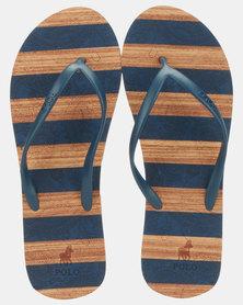 Polo Kayla Striped Flip Flops Multi