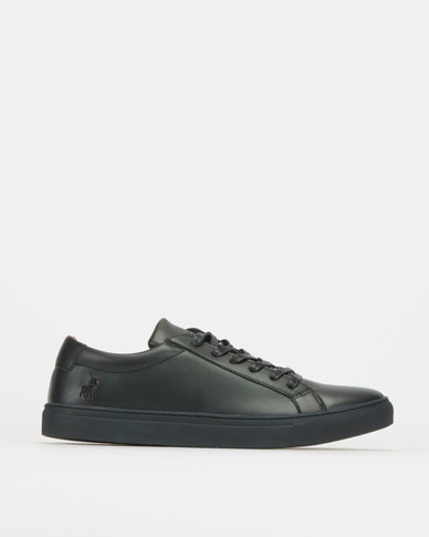 Polo David Plain Vamp Sneakers Black