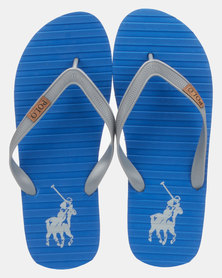 Polo Leo Thong Sandals Blue