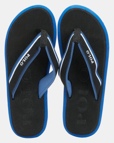 Polo Asher Fabric Thongs Black