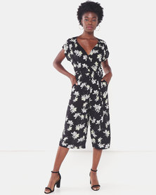 Utopia Brights Printed Jumpsuit Black